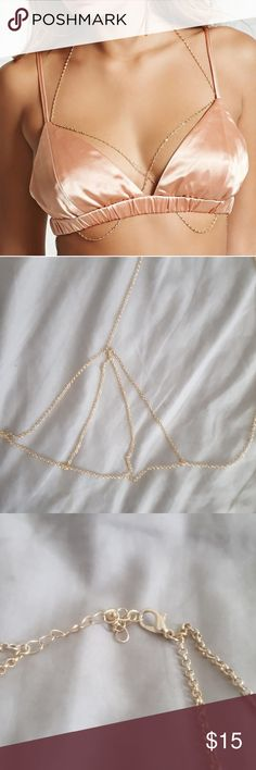 Sexy Gold Body Chain 💛 PERFECT! make me an offer. Jewelry Necklaces