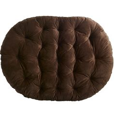Papasan Double Cushion - Plush Chocolate | Pier 1 Imports