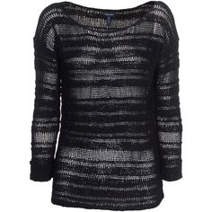 Splendid Textured Black Chunky Knit Sweater ($245) ❤ liked on Polyvore featuring tops, sweaters, women, textured sweater, transparent top, splendid tops, thick knit sweater and sweater pullover