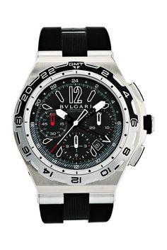 Bulgari Diagono 45mm Titanium and Steel watch with Black dial 101734  Chronograph, Bvlgari, Man 8dfc27f3445