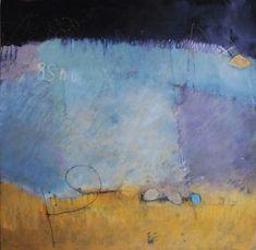 "Elaine Daily-Birnbaum - "" Finding Hidden Treasure"", 22"" x 22"", Mixed watermedia on paper.  (Blending marks & varied sections)"