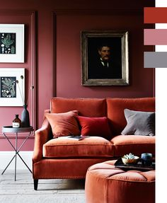 12 Fall Color Palette Trends We're Loving Right Now | rust, mauve and grey
