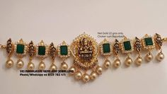 Saved by radhareddy garisa Pearl Necklace Designs, Jewelry Design Earrings, Gold Earrings Designs, Gold Jewellery Design, Ring Designs, Jewlery, Gold Wedding Jewelry, Gold Jewelry Simple, Bridal Jewelry