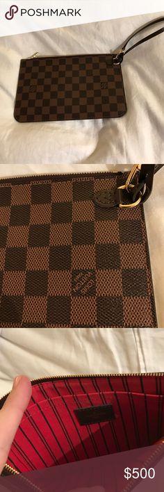 NWOT Louis Vuitton Neverfull Pouchette Wristlet Never used gorgeous LV wristlet. Perfect condition. 100% authentic. Louis Vuitton Bags Clutches & Wristlets
