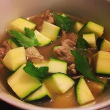 skinnymixer's Beef and Zucchini Broth Soup