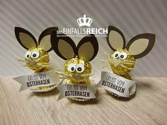 EinfallsReich: Frohe Ostern presents pote Easter Crafts, Christmas Crafts, Crafts For Kids, Easter Gift, Diy Natal, Easter Presents, Diy Presents, Happy Birthday Cupcakes, Candy Crafts