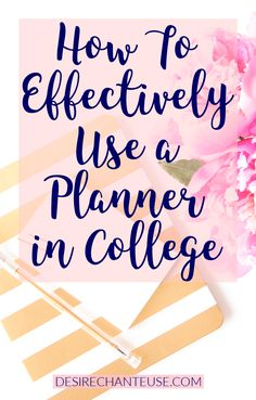 "As a college student, you need a planner to stay organized! This post will teach you how to utilize the color code method, what to do with your syllabus the moment you get it, and more! | ""How to Effectively Use a Planner in College"" 