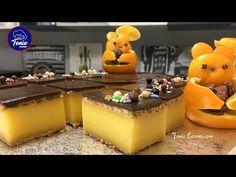 🍊Tarta fría con Crema de Naranja y Chocolate🍫   Receta sin horno   @TonioCocina - YouTube Banana Pie, Donuts, Cake Recipes, Pudding, Desserts, Youtube, Food, Chocolates, Ideas Para