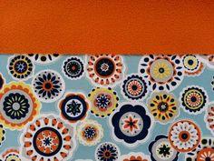 Softshell-Blumen-eisblau Softshell, Continental Wallet, Shopping, Flowers, Blue