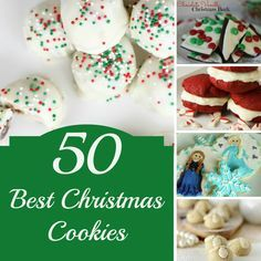 50 Best Christmas Cookies for your holiday cookie exchange party.