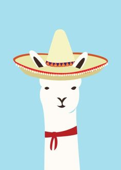 Mexican Llama.  Illustrated by Alice Berry.