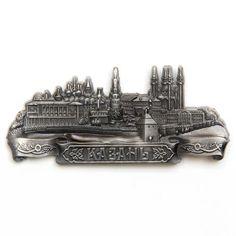 Metal Fridge Magnet: Russia. Kazan. Kremlin (Silver Color)
