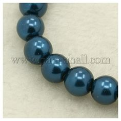 Pearlized Glass Round Beads StrandHY-8D-B72-1