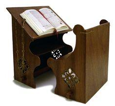 nicely done miniature medieval reader's desk