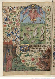 Titre : Horae ad usum Rothomagensem Date d'édition : 1401-1500 Source : Bibliothèque nationale de France, Département des manuscrits, NAL 3134, 67v