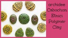 Cabochon Etnici con Incisioni   Polymer Clay Tutorial   DIY Cabochon Han...