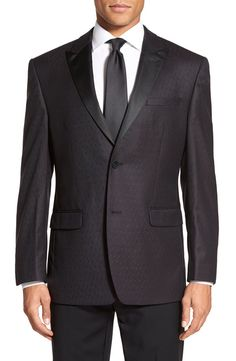 Andrew Marc Andrew Marc Classic Fit Paisley Wool Dinner Jacket available at #Nordstrom