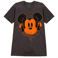 Headphones Mickey Mouse Tee for Adults