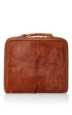 Arthur Fur Briefcase by TORY BURCH for Preorder on Moda Operandi