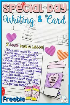 Valentine's Day Cards & Writing For Your Loved Ones {Freebie} Elementary Education Activities, Mother's Day Activities, Valentines Day Activities, Writing Activities, Valentine Day Cards, Holiday Activities, Valentine Crafts, Teaching Strategies, Teaching Tools