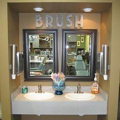 Brushing station at Pediatric Dentist