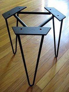 End metal table legs Hairpin Legs Steel Furniture, Furniture Legs, Industrial Furniture, Furniture Projects, Custom Furniture, Wood Projects, Furniture Design, Furniture Buyers, Furniture Removal