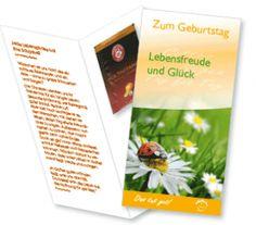 Teegrüße zum #Geburtstag: #Grußkarte mit #Teebeutel - #Lebensfreude und #Glück mit #LOGO - Das tut gut!