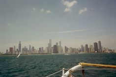 Chicao skyline view from lake Michigan