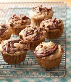Banana-nutella muffins