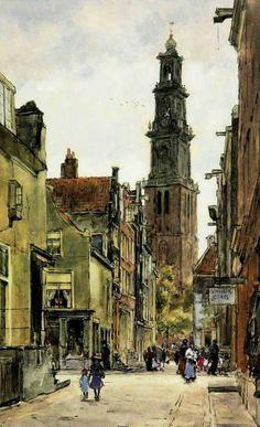 Aquarel, Felicien Bobeldijk (1876-1964)