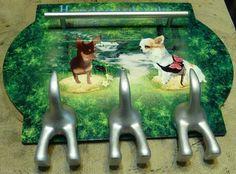 Leinenhalter Komplettdruck - nach Kundenfotos- und Wünschen. Garden Sculpture, Outdoor Decor, Design, Painting, Home Decor, Art, Animales, Art Background, Decoration Home