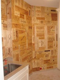 Wine Crate Wall