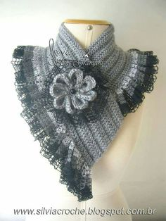 Scarf with ruffle