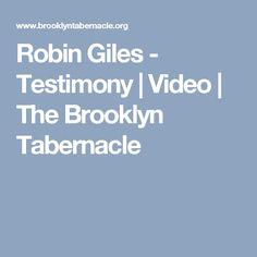 Robin Giles - Testimony   Video   The Brooklyn Tabernacle