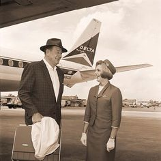 John Wayne ... Flying Delta Airlines...I've also considered Delta, but I do NOT want to be stationed in the US!!!!!