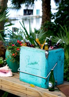 Vintage cooler from our Island Grove Estate photo shoot