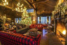 Christmas Lodge, Christmas Ale, Family Christmas, Christmas Wedding, Chateau Hotel, Winter Lodge, Saranac Lake, Cabin Homes, Cabins In The Woods