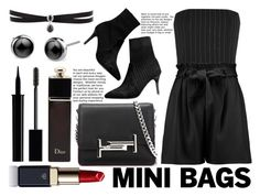 """So Cute: Mini Bags"" by chezhao ❤ liked on Polyvore featuring Tod's, Thierry Mugler, Boohoo, Fallon, Gucci, Giorgio Armani, Christian Dior and Clé de Peau Beauté"