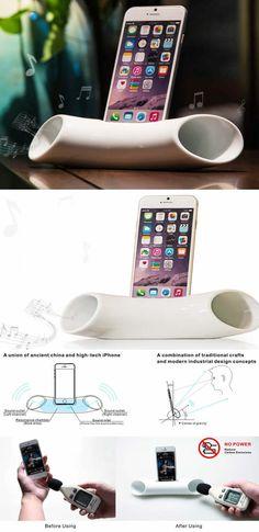 Ceramic Speaker Sound Amplifier Stand Dock for SmartPhone
