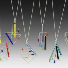 Wire Jewelry - Argentium silver and colorful glass necklaces. 17 of the original designs, random assorted colors. Sterling silver chain upon request). Match with coordinating BWE for a set. Sea Glass Jewelry, Metal Jewelry, Sterling Silver Jewelry, Silver Ring, Gothic Jewelry, 925 Silver, Granada, Cleaning Silver Jewelry, Jewelry Stores Near Me