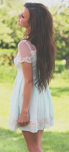 Mint dress - More Details → http://fashiononlinepictures.blogspot.com/2013/04/mint-dress.html.
