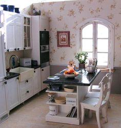 Modern Miniature Farm Kitchen - 1/12 scale
