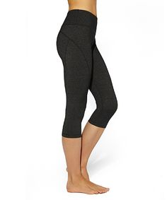 MSP by Miraclesuit Charcoal Tummy-Control Capri Leggings - Women | zulily