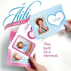 Söpö vai söpömpi – mitä näistä nyt sitten valitsisi? Hymiö heart Tilaa herttaiset onnittelukortit oman lapsesi kuvalla. | www.kuvaverkko.fi | #söpö #kortti #onnittelukortti #kuvatuote #äitienpäiväkortti #äitienpäivä #äiti