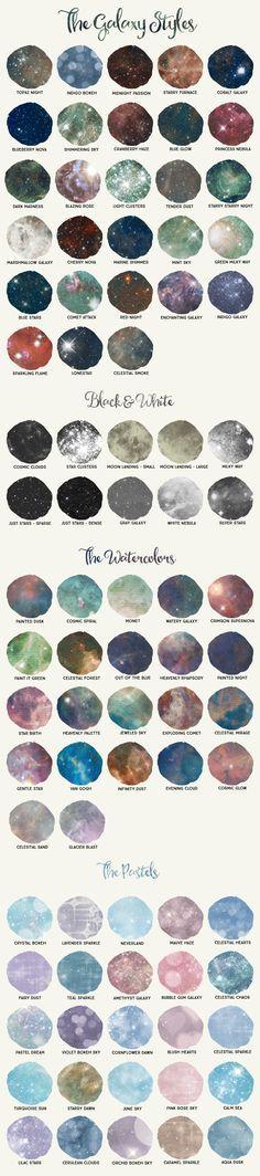 Galaxy Design Kit for Photoshop by Alaina Jensen on @creativemarket