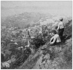 Bergen fra Fløyfjellet rundt 1915? 12th Century, The St, Capital City, Bergen, West Coast, Norway, Medieval, Survival, Historia