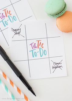 Tic Tac To Do - looks like a game the kids might enjoy while doing chores.  I like the fill-in daily to-do list that divides the day into morning, afternoon and evening.