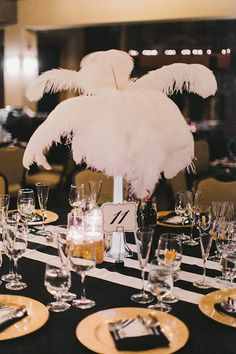 black and white wedding with gold accents #blackandwhite