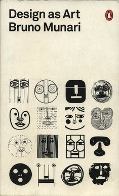 'Design as Art' by Bruno Munari. Cover design by Bruno Munari Buch Design, Design Art, Logo Design, Modern Design, Free Design, Amsterdam Museum, Penguin Modern Classics, Ernst Haeckel, Plakat Design