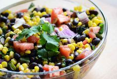 roasted corn & poblano salad with lime vinaigrette — A Sweet Simple Life Potluck Recipes, Mexican Food Recipes, Salad Recipes, Vegetarian Recipes, Healthy Recipes, Picnic Recipes, Picnic Ideas, Lunch Ideas, Gourmet Cooking